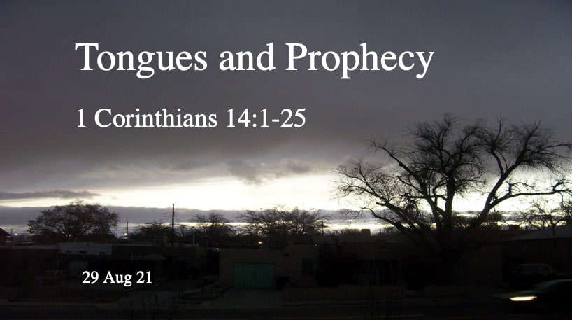 Tongues and Prophecy